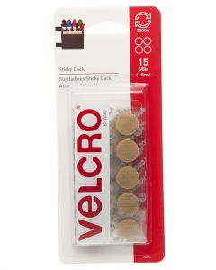 Velcro 5/8 Inches Sticky Back Beige Coin