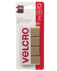Velcro 7/8 Inches Sticky Back Beige Square