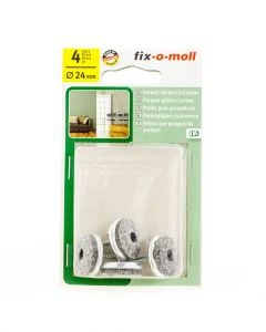 Fix-O-Moll Parquet Gliders With Screw 24Mm