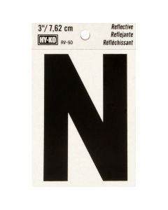 Hy-Ko 3 Inches Black Reflective Letter N