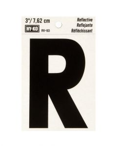 Hy-Ko 3 Inches Black Reflective Letter R