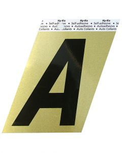 Hy-Ko 3-1/2 Inches Aluminum Adhesive Letter A
