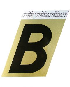 Hy-Ko 3-1/2 Inches Aluminum Adhesive Letter B