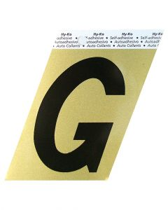 Hy-Ko 3-1/2 Inches Aluminum Adhesive Letter G