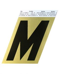 Hy-Ko 3-1/2 Inches Aluminum Adhesive Letter M