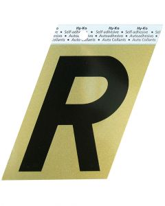 Hy-Ko 3-1/2 Inches Aluminum Adhesive Letter R