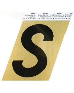 Hy-Ko 3-1/2 Inches Aluminum Adhesive Letter S