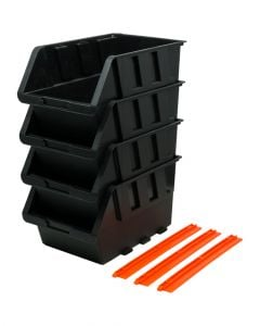 Tactix Storage Bin Set of 6 Pieces 15 x 24 x 12.8 cm