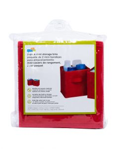 Honey Can Do Non-Woven Foldable Cube Red Pack of 2
