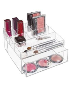 Interdesign Cosmetic Organiser with Drawer 6.3 x 7 x 3.8 inch Clear