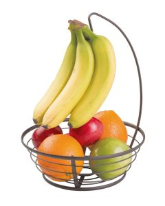 Interdesign Axis Fruit Bowl With Banana Hanger 10.2 x 10.2 x 13 inch