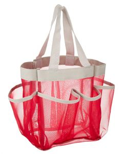 Honey Can Do Pink 7-Packet Shower Tote