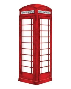 Brewster London Phone Booth Giant Dry Erase Decal