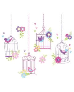 Brewster Chirping The Day Away Large Wall Art Kit