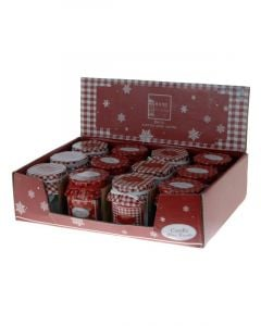 Homesmiths Christmas Candle In Glass Pot 65mm 1 Peice Per Pack