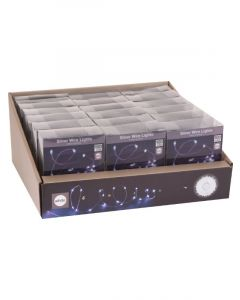 Homesmiths Christmas Silverwire 100Led White In 1 Box