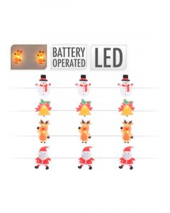 Homesmiths Christmas Wire Lights 20 LED Assorted Design 1 Piece