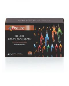 Homesmiths Christmas 20 Candy Cane Lights With