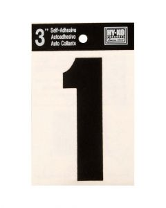 Hy-Ko 3 Inches Black Adhesive Number 1