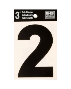 Hy-Ko 3 Inches Black Adhesive Number 2