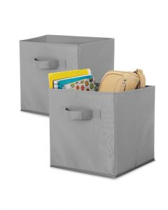 Whitmor Collapsible Cubes Set of 2 Pieces Paloma Grey