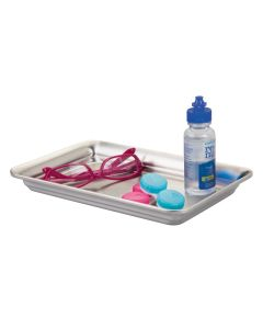 Interdesign Vanity Tray Brushed Stainless Steel 6.3 x 9.8 x 1.1 inch