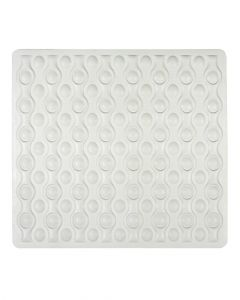 Wenko Shower Mat Rocha White 54 x 52 cm