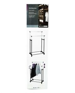 Homesmiths Cloth Hanging Double Rack On 4 Wheels
