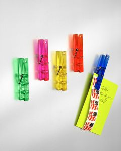 Spectrum Large Assorted Clothespin Memo Clips Pack of 5