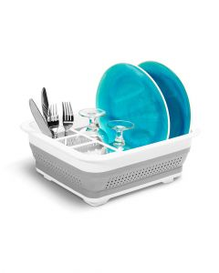 Madesmart Collapsible Drying Dish Rack White