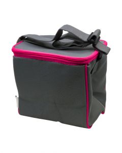 Fit & Fresh Insulated Cooler Bag Solid Grey with Pink