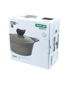 Neoflam Aeni Casserole with Lid Warm Marble 2.4L