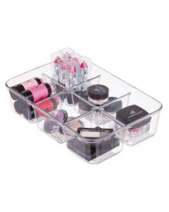 Interdesign Linus Pack Place with Dividers 9.5 x 6.5 x 2.2 inch