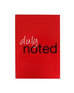 RSW A5 Notebook Duly Noted hardback 200 pages Red