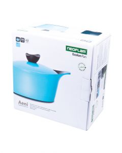 Neoflam Aeni Casserole With Lid Cyan Blue 24Cm