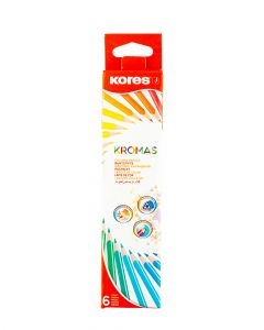 Kores Pack of 6 Colour Pencils