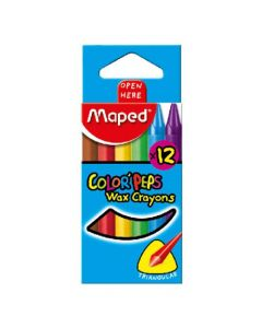 Maped Colour Peps Wax Crayons 12 Colour