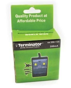 Terminator AC to DC Adaptor 350mA Box Packed 13A