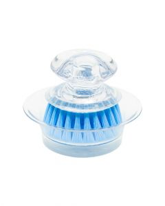 Casabella Clear Mini Brush Scrubber with Holder Assorted
