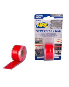 HPX Stretch and Fuse Red 25mm X 3 Metre