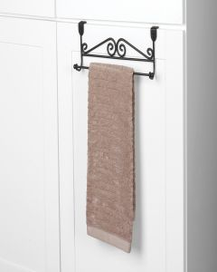 Spectrum Scroll Over the Cabinet Towel Bar Black