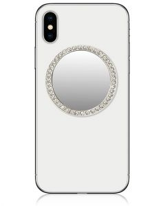 IDecoz Phone Mirrors Silver Circle With Crystals