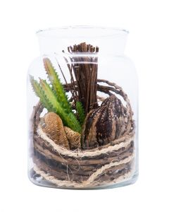 Homesmiths Artificial Plant In Glass Pot 125 x 160 mm
