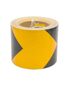 Homesmiths Refelective Tape Yellow Black 4 inch