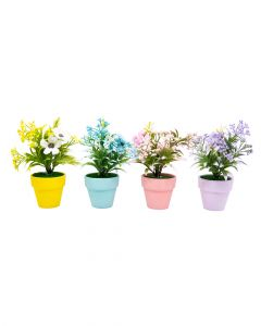 Homesmiths Daisy In Pot 18 Cm 4 Assorted Color