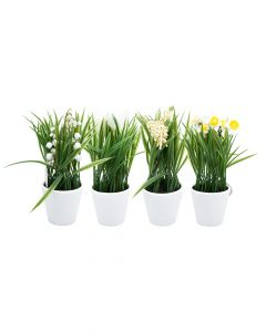 Homesmiths Plant In Polypropylene Pot with Rope Assorted 1 Piece