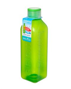 Sistema 1L Square Water Bottle Green