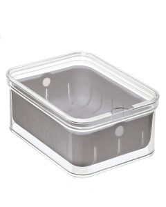 Interdesign Crisp Berry Bin 6.5 x 8.5 x 3.75 Inch Clear& Grey