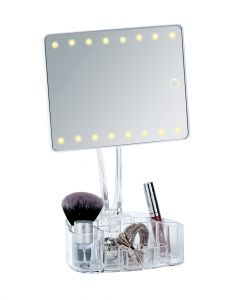 Wenko Standing Mirror With Organiser Led Trenno