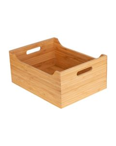 Little Storage Co Large Bamboo Tub 32 x 22 x 14 cm